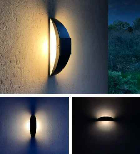 Solar Wandlampe wie ein Segel