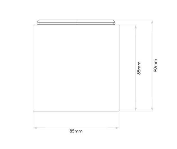Abmessungen der modernen quadratischen GU10 Deckenleuchten