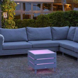 Garten Loungemöbel mit Beleuchtung