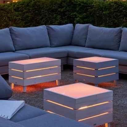 Gastro Tischmöbel für außen mit Beleuchtung