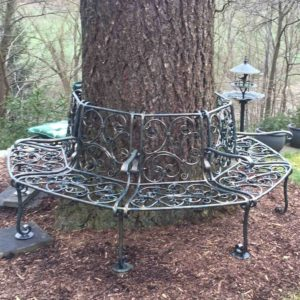 Schmiedeiserne Baum Gartenbank