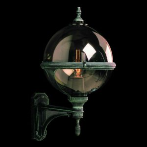 Rauchglas Kugel Wandleuchte für außen
