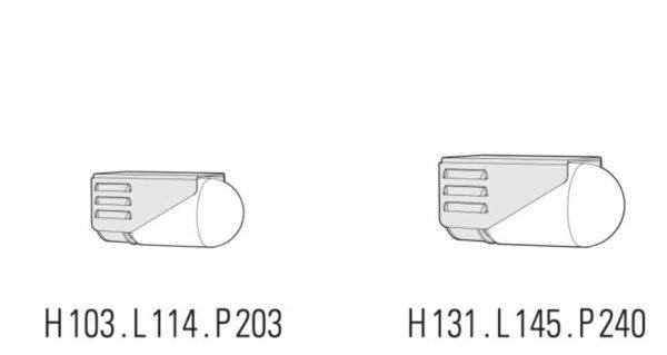 Außenwandleuchten Industriedesign Abmessungen