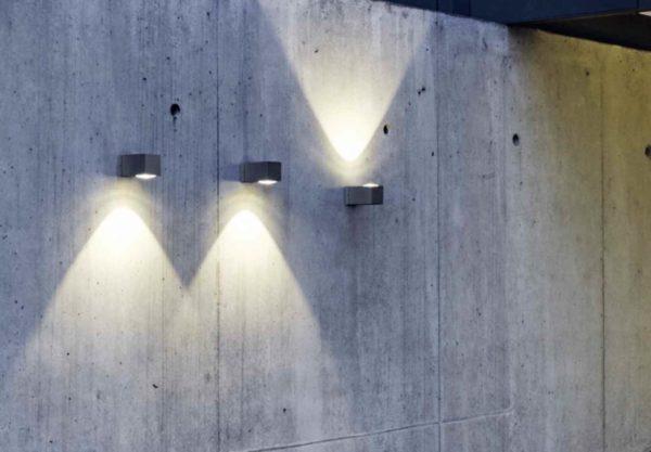 Leuchte gezeigt als up oder downleuchte