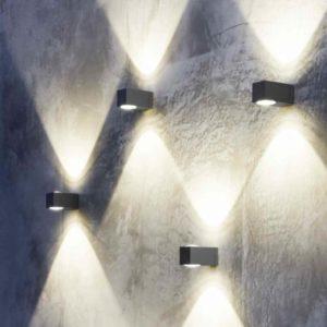 Licht und Schattenspiele an der Hauswand erzeugen
