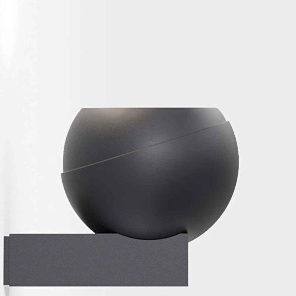 Moderne runde Außenwandleuchte in schwarz