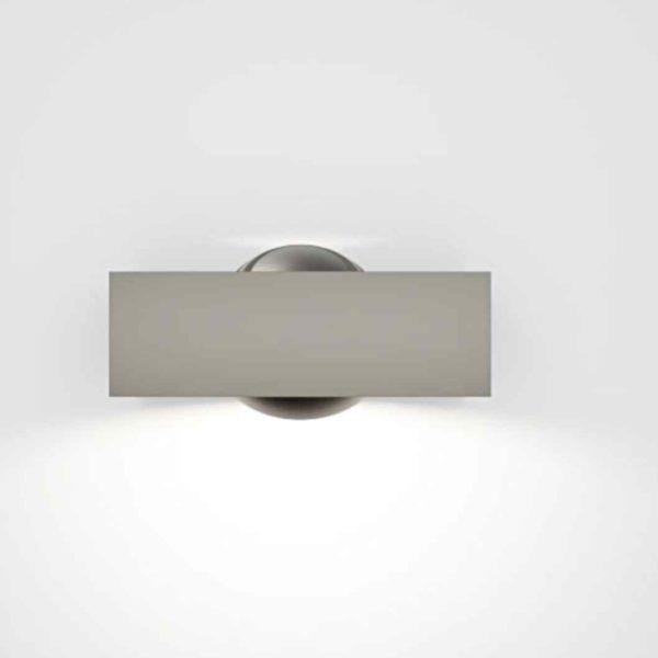 Schwenkbare einstellbare Design Außenwandleuchte in grau