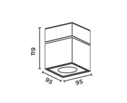 Abmessungen der modernen verstellbaren Deckenleuchte für außen