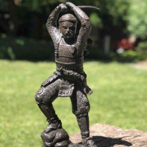 Bronze Figur Samurai