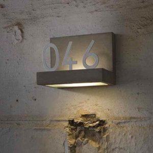 Originelle Hausnummerleuchte