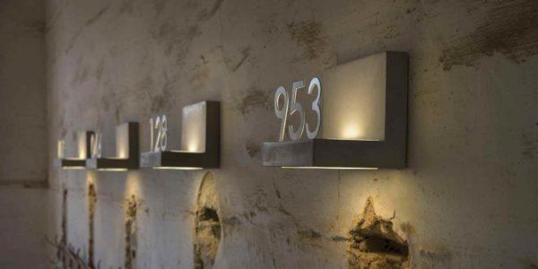 Originelle Hausnummernleuchten