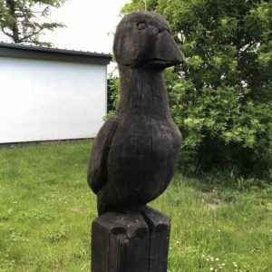 Gans Skulptur aus Holz