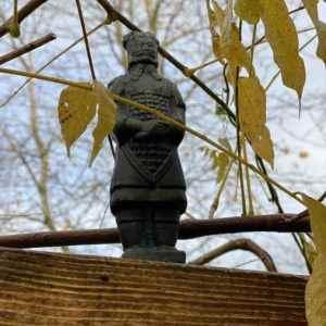 Garten Krieger Figur