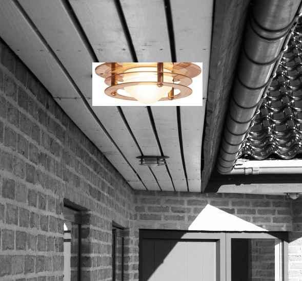 Kupfer Deckeneinbauleuchte Gu10 für den Dachüberstand