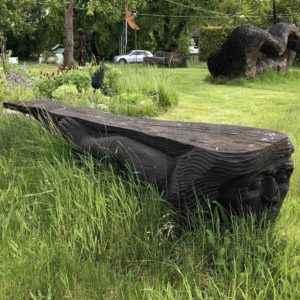 Exklusive Gartenbank Skulpturen