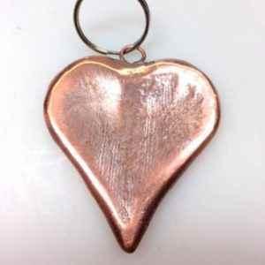 Herz Anhänger aus Kupfer für außen