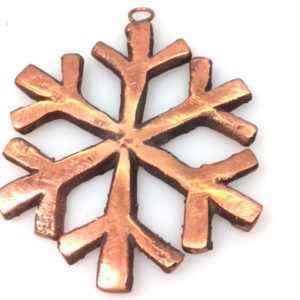 Kupfer Weihnachtsschmuck Schneestern für außen