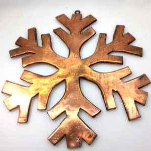 Kupfer Weihnachtsschmuck Schneeflocke