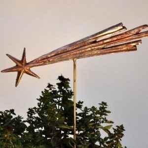 Weihnachts Komet aus Kupfer für außen