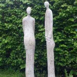 Garten Beton Skulpturen verliebtes Pärchen
