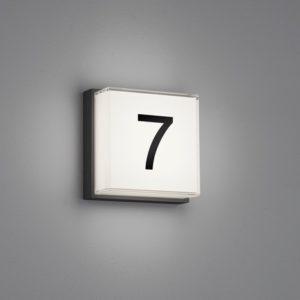Moderne Quadratische Glas Hausnummerleuchte