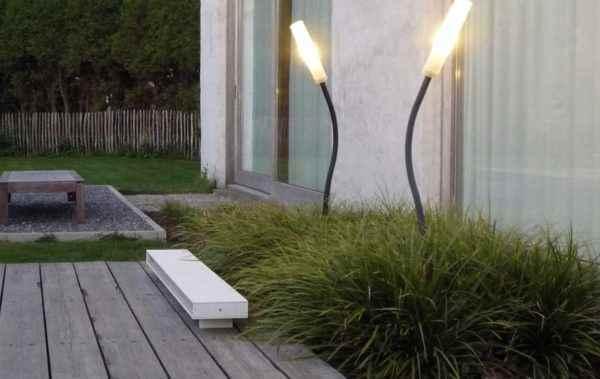 Originelle schlanke Garten und Terrassenleuchten für 230V