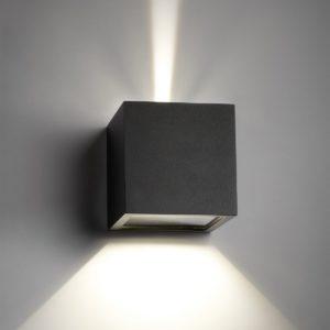Wand Außenleuchte mit verstellbaren Lichtkegel