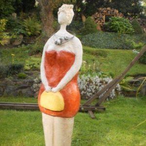 Wartende Lady Garten Skulptur aus Beton