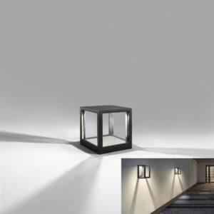 Design Außenlampe mit Licht und Schatten