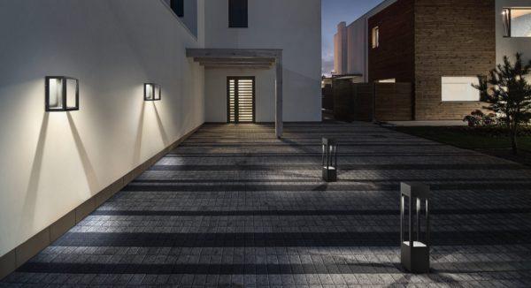 Design Außenlampen mit Licht und Schatten