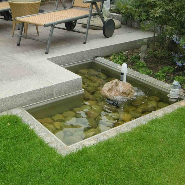 Edelstahl Garten Wasserbecken
