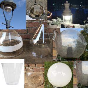 Ersatzgläser für alte Außenlampen
