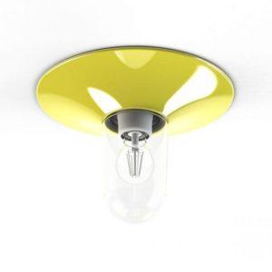 Farbenfrohe Deckenlampe für außen