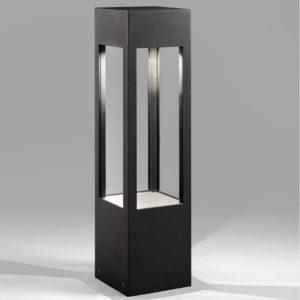 Designlampe für außen mit Licht und Schatten