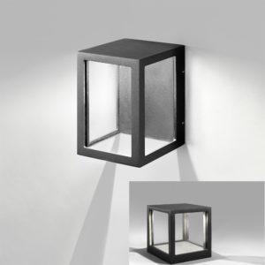 Moderne blendfreie LED Wandlampe für außen