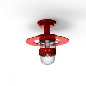 Rote Deckenlampe für außen