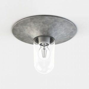 Verzinkte Deckenlampe für außen