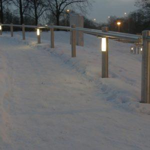 Außengeländer mit integrierten Lampen