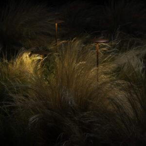Dezente 24V Beleuchtung im Garten