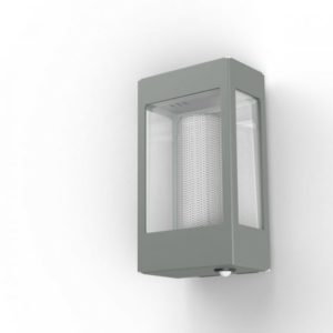 Graue Außenlampe mit Bewegungsmelder