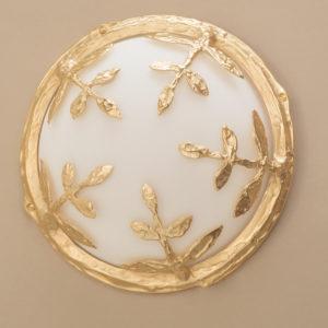 Kunstvolle Gold Außen Wandlampe aus Bronze