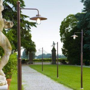 Kupfer Gartenlaternen mit Schirm für außen