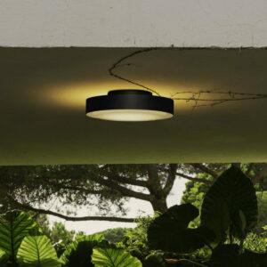 Runde schlichte Außen Deckenlampe Durchmesser 50cm