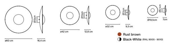 Spanische Design Wandaußenleuchten in verschiedenen Größen