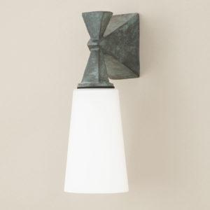 Wandlampe aus grüner Bronze für außen