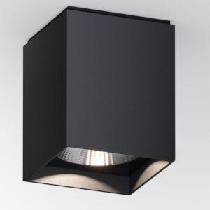 Quadratischer Deckenstrahler RAL9005 für außen