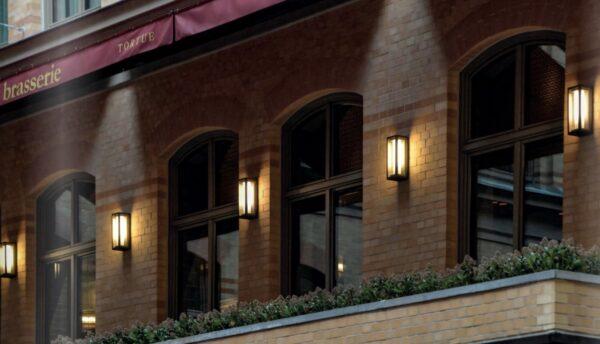 Schöne Außen Wandbeleuchtung für die Gastronomie