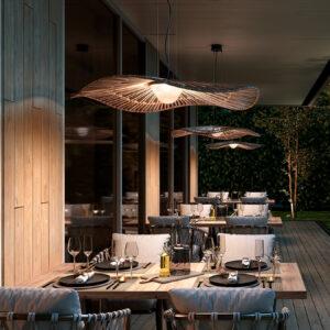 Mediterrane Gastro Tisch Hängeleuchte für außen