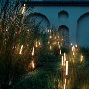 Schöne kleine Leuchten um Gräser zu beleuchten