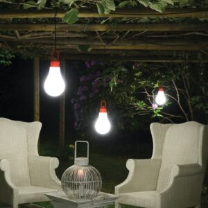 Außen Hängeleuchte in Form einer Glühlampe